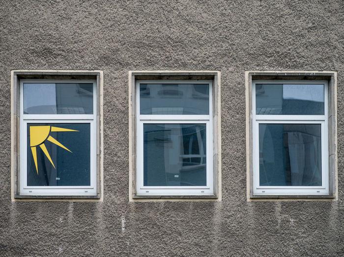 Full frame shot of glass window on building