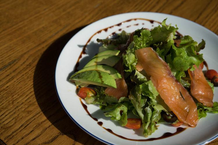 Dinner Food Food And Drink Healthy Eating Plate Salad Salad Salmon Salad Vegetable Vegetable Vegetarian Food