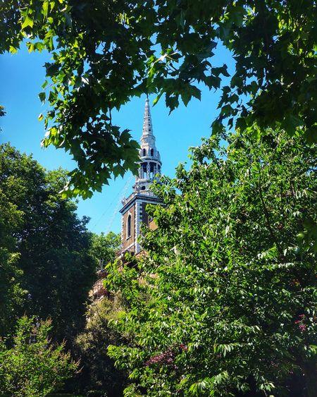 Church Sun Trees Sky Sunsout Stmarys Stmaryschurch Church Islington London