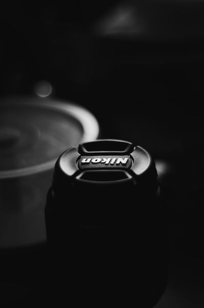 Lens caps are a subject of all bored photographers 😅 Close-up Black Background Indoors  Bnw Nikon Lens Blackandwhite Lenscap