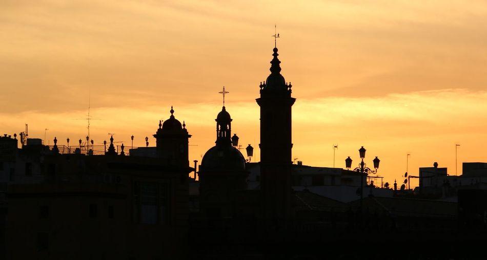 Capilla Virgen Del Carmen Against Sky During Sunset In City