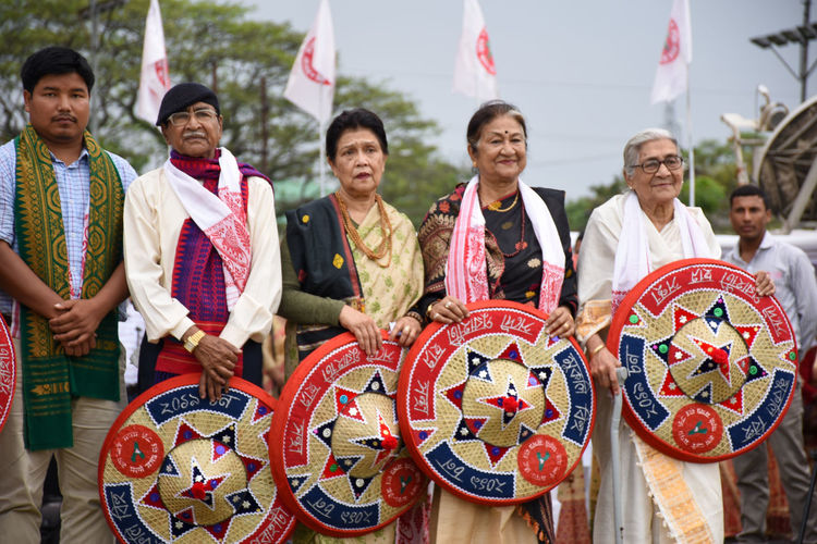 Group of people in traditional clothing