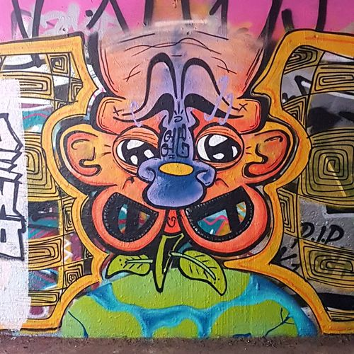 Street Art/Graffiti Multi Colored Art And Craft Painted Image Backgrounds Day Indoors  No People