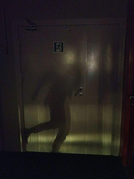 Indoors  One Person Only Men Dark Door Doorsign Sunbeam Sunbeam Through Window