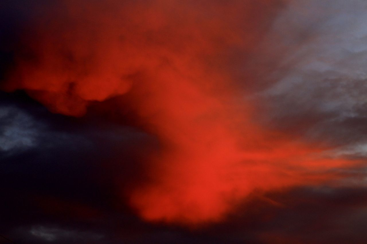 erupting, smoke - physical structure, volcano, lava, danger, heat - temperature, orange color, sky, power in nature, cloud - sky, no people, nature, beauty in nature, active volcano, exploding, outdoors, burning, scenics, flame, sunset, accidents and disasters, volcanic crater, night, close-up, ash, molten