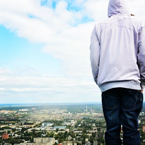 >200 View Me Day Height City Cityscape Hood - Clothing TOWNSCAPE