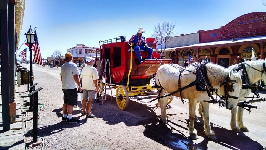 Southern Arizona Western Style Nostalgia Remembering Horse Drawn Stage Coach Business Stories