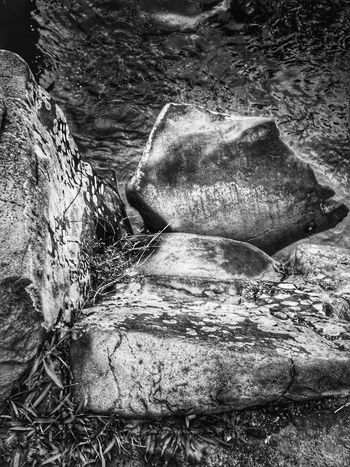 Abstract Nature Rock Formation Textured  Nature Outdoors Beauty In Nature Power In Nature Water Stone View Shapes In Nature  Scenic Abstractions Weathered Perspective Backgrounds Natural Condition Abstractions In BlackandWhite Close-up Layers And Textures Views Tranquil Scene Natural Architecture Black And White
