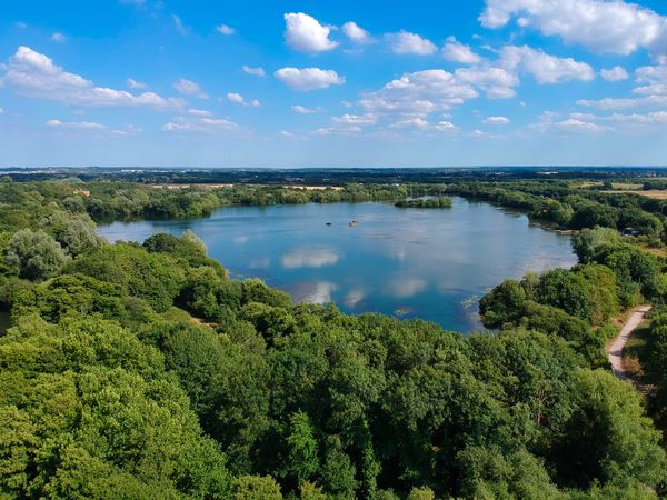 Lake landscape from a Drone Beauty In Nature Cloud - Sky Day Environment Green Color Growth Lake Land Landscape Nature No People Non-urban Scene Outdoors Plant Scenics - Nature Sky Tranquil Scene Tranquility Tree Water