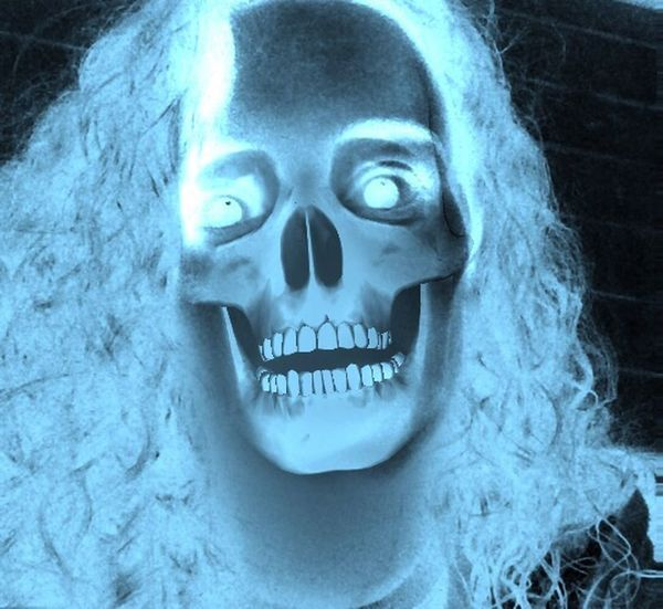 Skeleton My Face Creepy White Teeth No Eyes WTF Ilikeit Followme Likeforlike ohiho