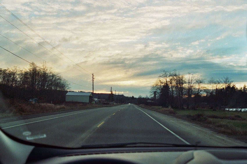 Cinematic Country Road Diminishing Perspective Empty Film Photography Filmisnotdead Journey Landscape Melancholic Landscapes Nature On The Road Outdoors Road Roadtrip Sky The Way Forward Tranquility Vanishing Point Washington Windshield