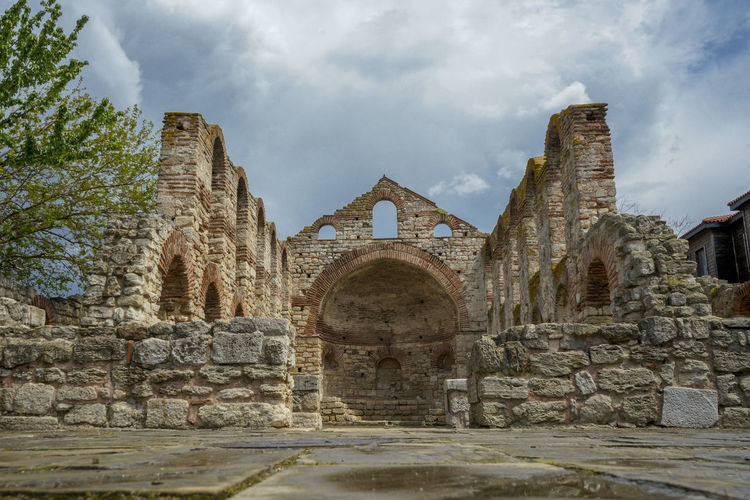 Ancient ruins in Nesebar. The city is part of Unesco World heritage. Incredible tourist destination. History The Past Architecture Travel Destinations Ancient History Arch Nesebar Travel Temple Unesco Unesco World Heritage