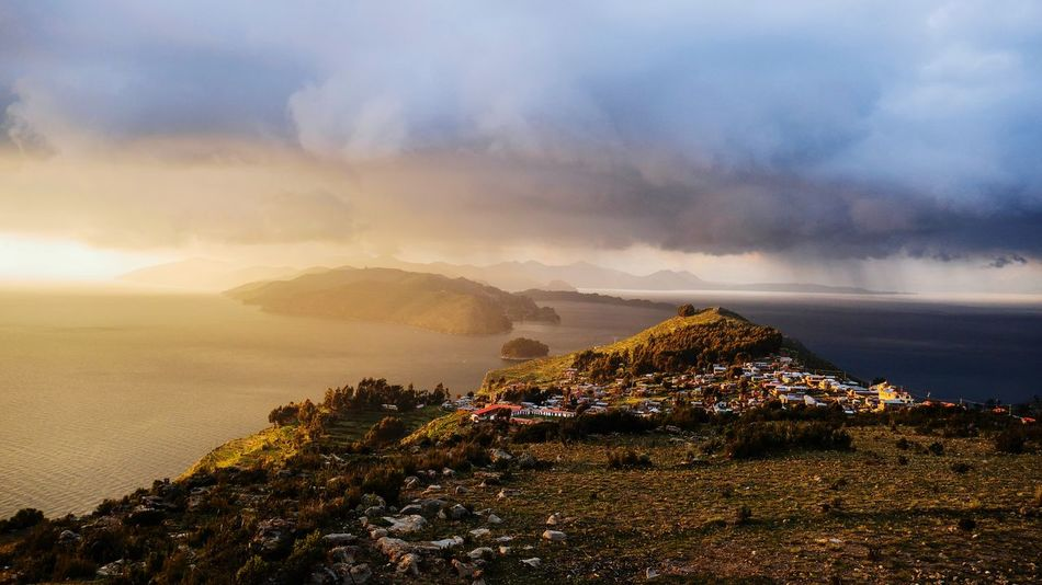 Morning In Isla del Sol, Titicaca Nature Scenics View Bolivia Titicaca Sky Cloud - Sky Beauty In Nature Scenics - Nature Nature Mountain Tranquility Environment Landscape No People Tranquil Scene Outdoors Travel Destinations Travel Sunset
