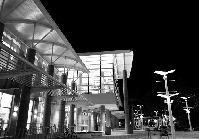Light And Shadow Florida United States Black And White Architecture_collection Library I Love My City Fort Myers Windows