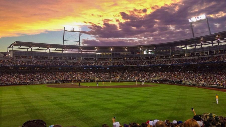 CWS Nebraska Nebraska Skies Sunset Baseball