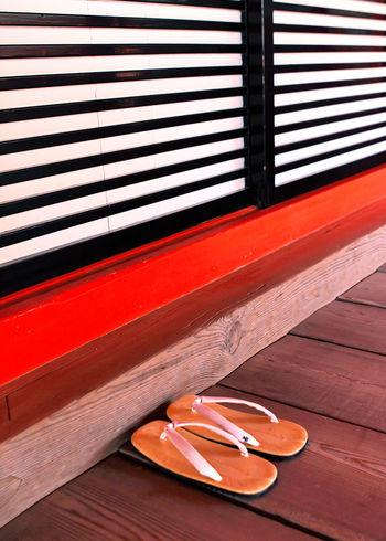 Close-up Doors Japan Japan Photography Japanese Culture Red Sandals Sliding Door Wood Wooden