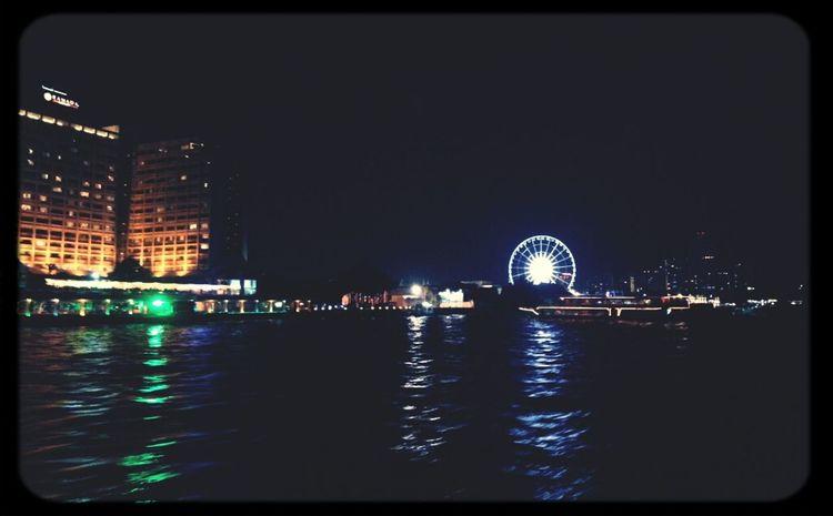 Eye4photography  Night Lights; By Chao Phaya River, BKK, THA Nightcall Divelandscape