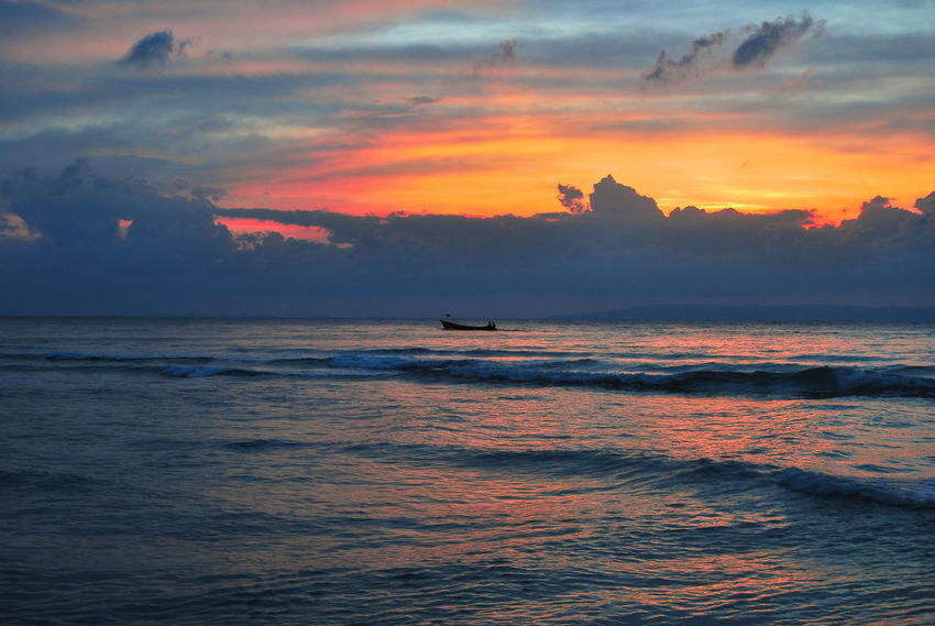 Beauty In Nature Cloud - Sky Day Horizon Over Water Mode Of Transport Nature Nautical Vessel No People Outdoors Scenics Sea Silhouette Sky Sunset Tranquil Scene Tranquility Transportation Water Waterfront Wave