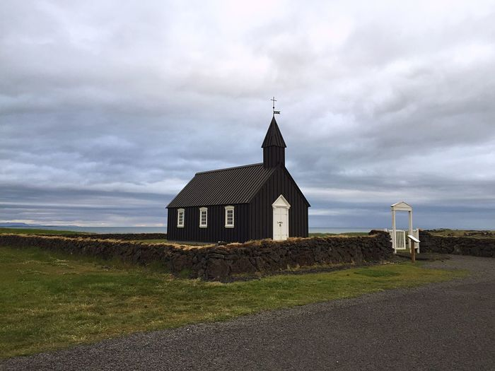 Small Church Overlooking Calm Sea