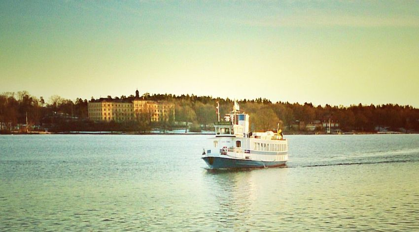 Transportation to work. Commuter Stockholm Picoftheday, MADE IN SWEDEN