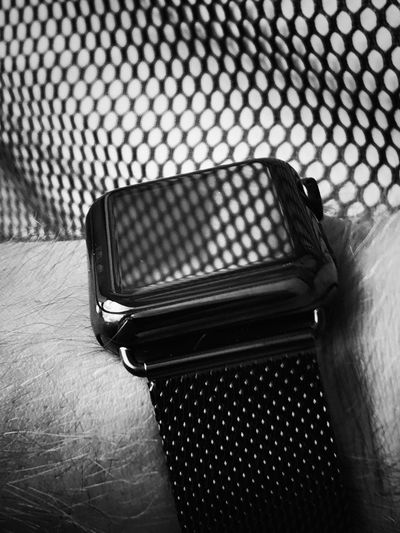 Applewatch Stainless Steel  No People Close-up Technology Day EyeEm Selects EyeEm Best Shots - Black + White EyeEm Gallery EyeEm Watch Apple ShotOnIphone IPhoneography Tech Technology I Can't Live Without EyeEm Bnw