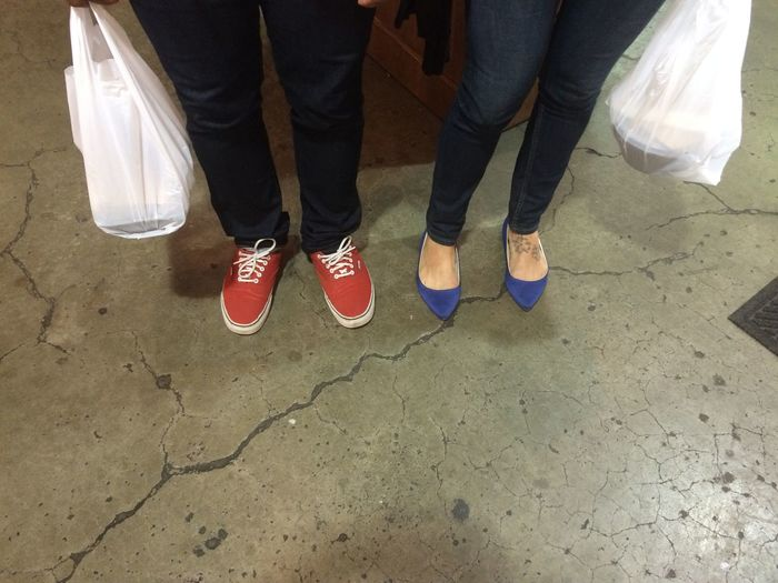 Man And Woman Shoes Lunch