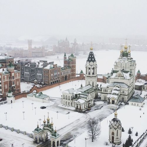 View of cityscape during winter