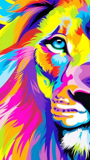 Wallpaper Hello World Lion 😸😽💋🙊✌🏻️👌