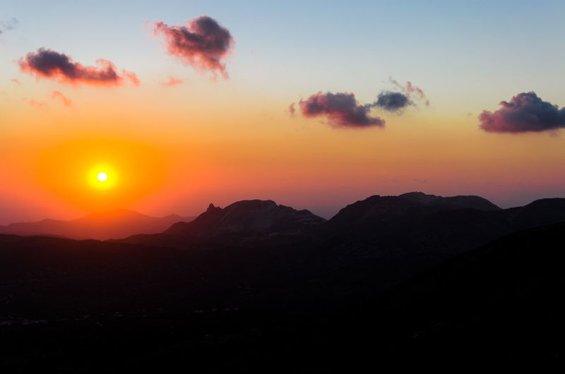 Beauty In Nature Day Greece GREECE ♥♥ Landscape Mountain Mountains Nature No People Outdoors Scenics Silhouette Sky Sun Sunset Tranquil Scene Tranquility