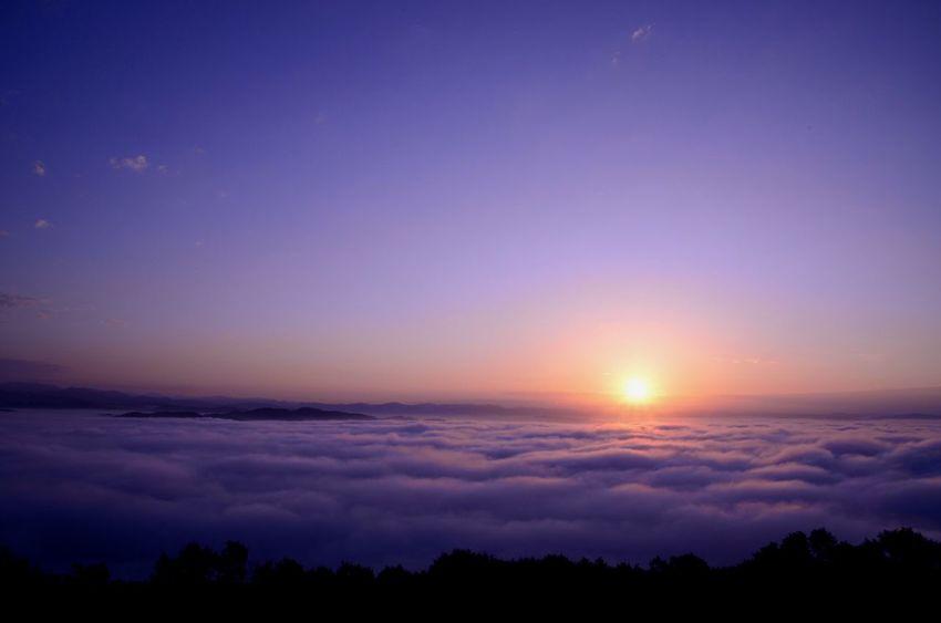 新年一枚目は大好きな 雲海 写真で✩*॰ ( ¨̮ ) ॰*✩ Sea Of clouds もっと雲海みたいなー。でも寒いなぁ。スタットレスないし…。トマムの雲海テラス行きたい