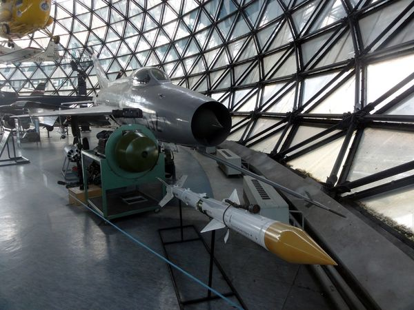 Detail from airplane museum - Mig 21 Air Vehicle Aircraft Airplane Jet Fighter Mig Missile No People Transportation