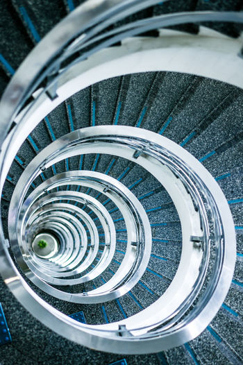 Number 6 6 Spiral Staircase Stairs Down Handrail  Metal Metaphorical Photography Number Numbers Symbol Tall Tunnel Vision