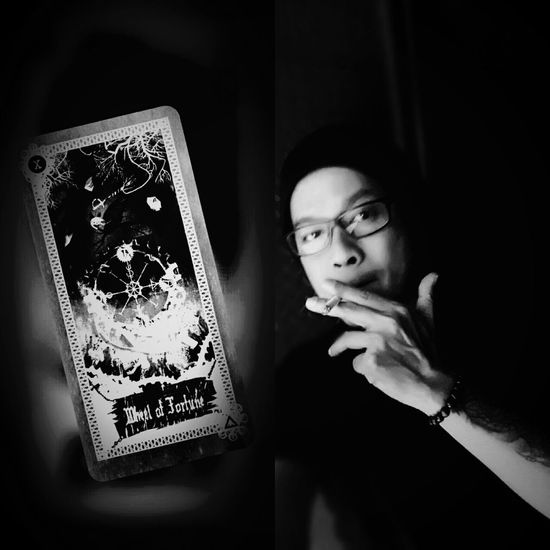 One Person Adult Adults Only People Tarot Tarotreader Tarotreading Black Background Photography Blackandwhite Shadow Photography Eyembestedit Eyem Best Edits Shadow Art Tattoo ❤ Tattoos Smoke Tattoo Jakarta Indonesia Monocromatic Monochromeart Monochrome_Photography Edits_bnw Jakarta, Indonesia Tarotcards