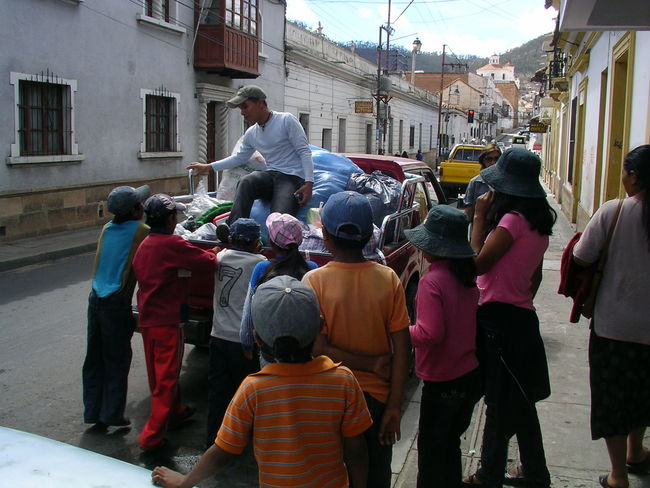 Bolivia Christmas Distribution Sucre Toys Day Kid Outdoors