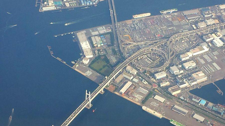 Skyview Bridge Highway Yokohama 横浜ベイブリッジ Architecture Airplane Sky