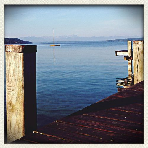 Starnberger See Steg Beautiful Day Boot