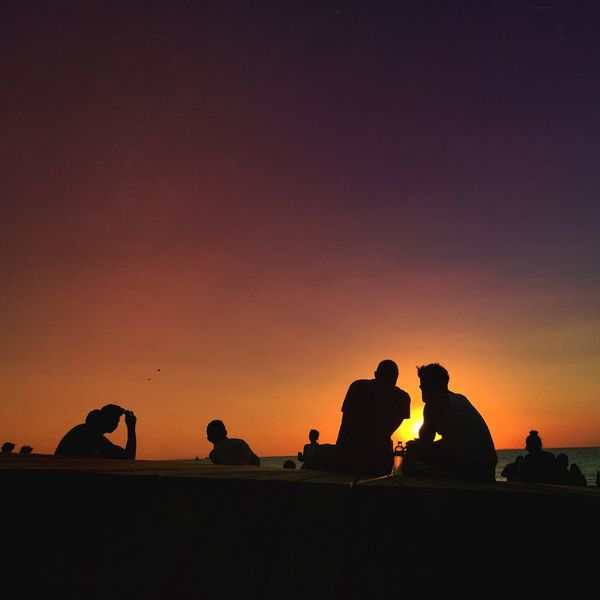 Beauty In Nature Clear Sky Day Men Nature Orange Color Outdoors People Real People Silhouette Sky Sunset The Great Outdoors - 2017 EyeEm Awards The Street Photographer - 2017 EyeEm Awards Togetherness Women Sommergefühle