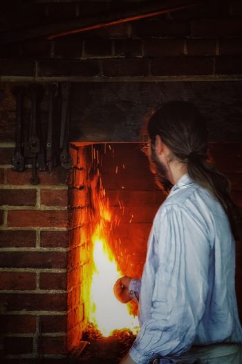 Stoked Fire Sparks Fireplace Mount Vernon Smelting Iron Ironwork  Stoked Stoking The Fire People