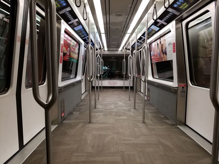 Subway Train Public Transportation Train - Vehicle Transportation Mode Of Transport Indoors  Railroad Car No People