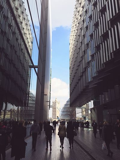 London Business Business Life Rush Hour People Walking  City Of London Tall Buildings Reflection Of Buildings Glass Buildings Modern Architecture Lifestyle Tower Bridge  Battle Of The Cities