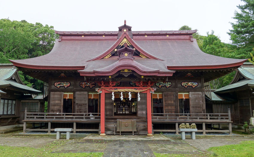 Oarai isosaki shrine, Ibaraki, Japan Japan Oarai Isosaki Architecture Building Exterior Built Structure Cultures Ibaraki No People Religion Roof Shrine Tradition