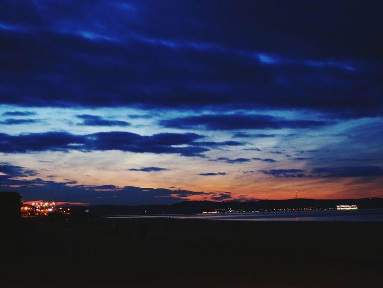 Peace and quiet. Sunset Sea Dramatic Sky Night Beach Nature No People Portobello Beach, Edinburgh Edinburgh City