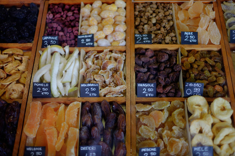 Abundance Choice Composition Dried Food Dried Fruit EyeEm Italy Food Food And Drink Genova Healthy Eating Indulgence Market Stall Sottoripa Still Life Sweet Food Variation Beautifully Organized