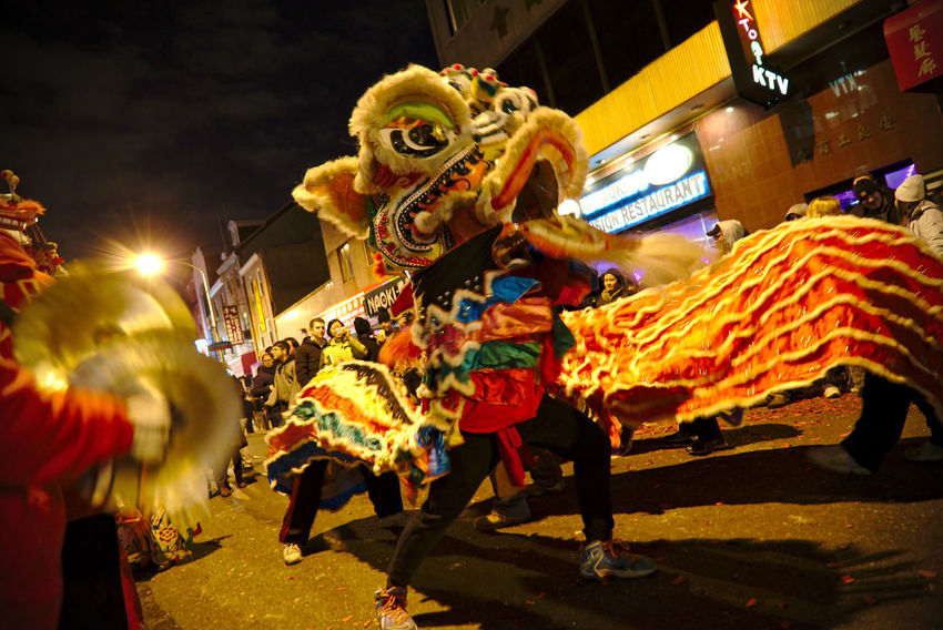 Philadelphians celebrate the Year of the Rooster with Chinese lion dances, fire crackers and more. Adult Celebration China Town Phil Chinatown Chinese Dragon Chinese New Year Chinese New Year 2016 Chinese New Year 2017 City Color Colorful Crowd Cultures Light Night Photography Outdoors People People Watching Performing Arts Event Philadelphia
