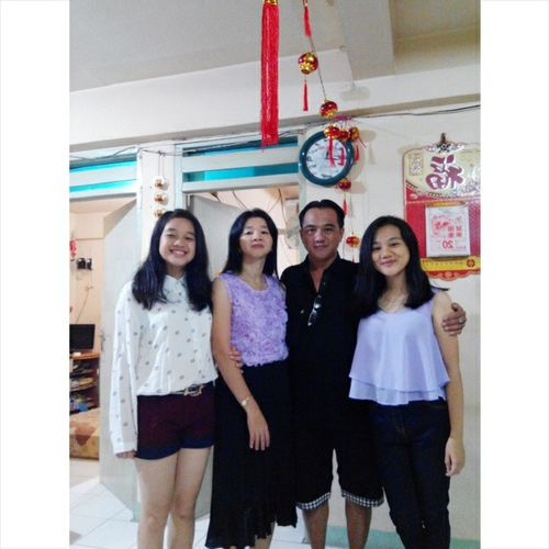 Number one is family👨👩👧👧👦 ps:mybro wnet out Family❤ Cny2015 Latepost