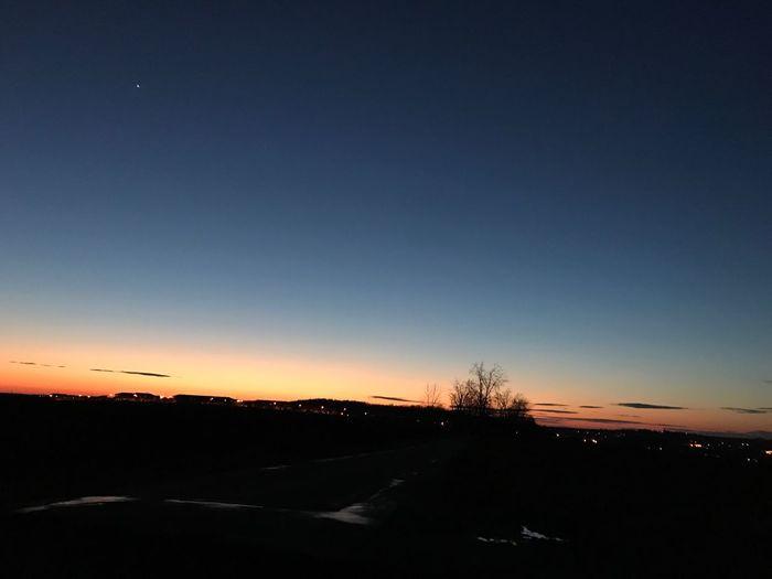 Evening Sunset Nature Dark Beauty In Nature Sky Night