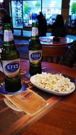 Hanging Out Beer Love Popcorns Outside Efes Pilsen🍺 Efes Pilsen Efes Drink Malt Drinking