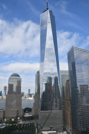 New York New York New York City WTC Architecture Building Building Exterior Built Structure City Cityscape Cloud - Sky Day Financial District  Modern Nature No People Office Office Building Exterior Outdoors Sky Skyscraper Tall - High Tower Travel Travel Destinations World Trade Center