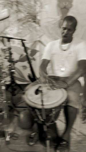 Black And White Blackandwhite Photography 3XSPUnity Guadeloupe Family Moments #le Petit Jardin FWI Music Gwo Ka Percussionist Men Motion City Full Length Blurred Motion Music Concert
