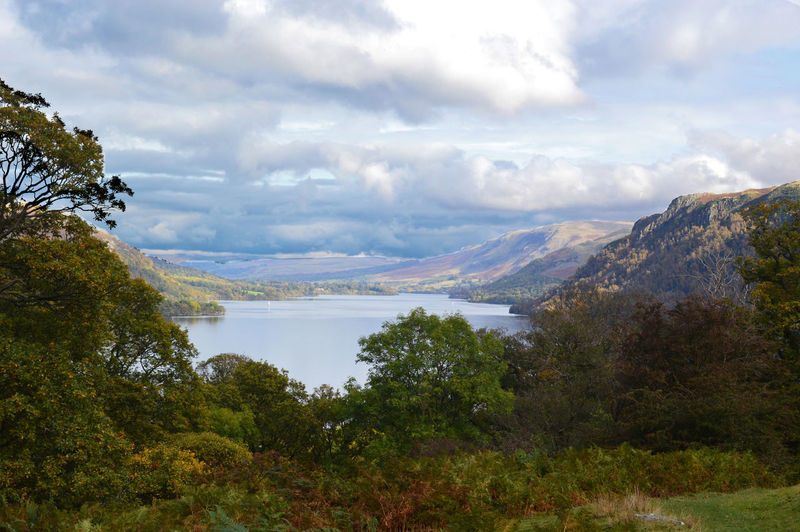Lake District Lake View Natural Beauty Tranquil Scene Cumdria View From Seldom Seen English Countryside Ullswater Lake Countryside Nature Water Beauty In Nature Cloud - Sky Landscape Mountain Sky Remote Outdoors Mountain Range